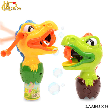 2016 new product swing toy dinosaur blowing bubble toy kids Hand bubble for sale
