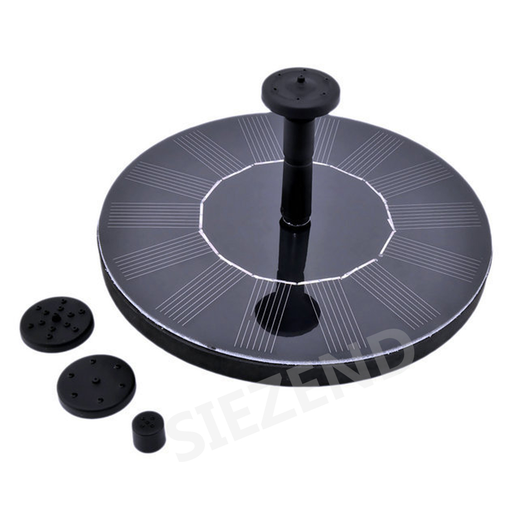 2017 Trending Products Solar Fountain Pump for Bird Bath Garden Free Standing Fountains