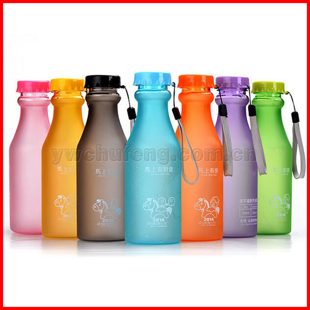 500ML Plastic BPA Free Water Bottle Colorful Bottle Portable Soda Bottle