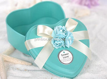Containers for candy wedding gift package heart shape tin can