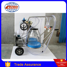 Hand Operated Stainless Steel Double Single Bucket Portable Goat Cow Milking Machine