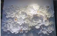 Paper flower wall decoration, wedding decoration, paper flower backdrop