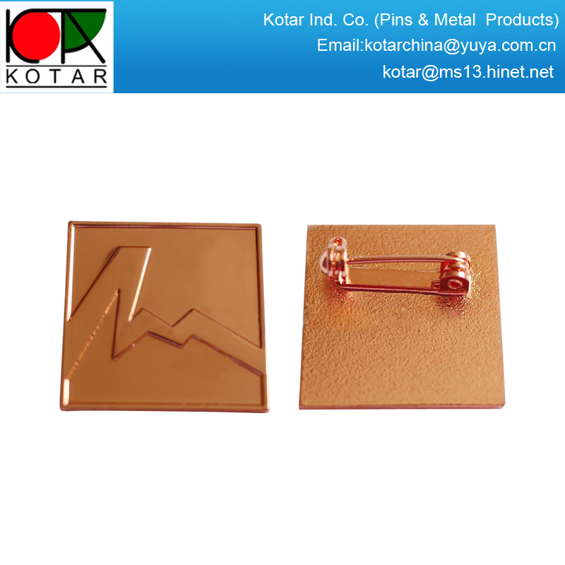 custom copper plating metal lapel pin