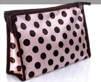 cute pink dot print cosmetic bag