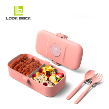 2018 eco friendly biodegradable food container leakproof lunch box