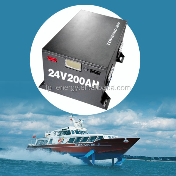 2014 Newest lithium battery 24V/200ah for yatch and electric boat