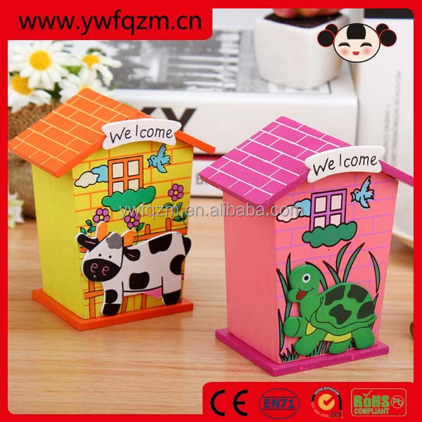 wood piggy banks for kids money saving box