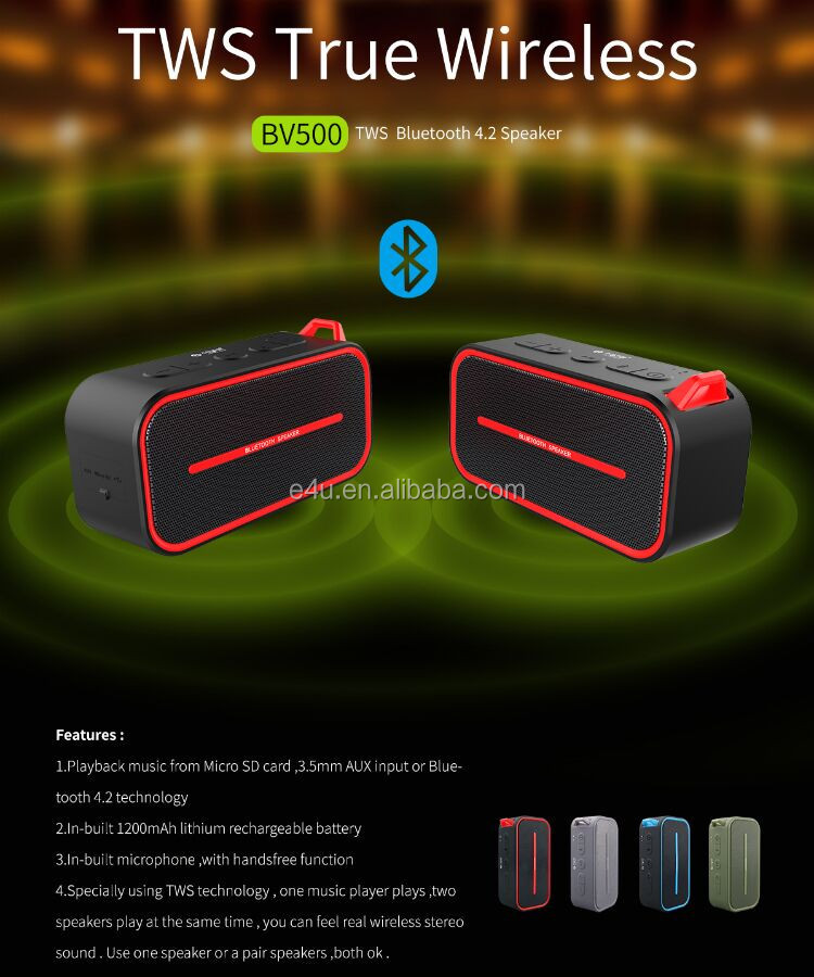 Wireless Mini Bluetooth Speaker Portable TWS Waterproof Stereo Bluetooth Speaker for Mobile Phone