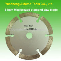 85mm Brazed diamond saw blade for granite,marble and concrete.melamine cutting tools festool mini circular