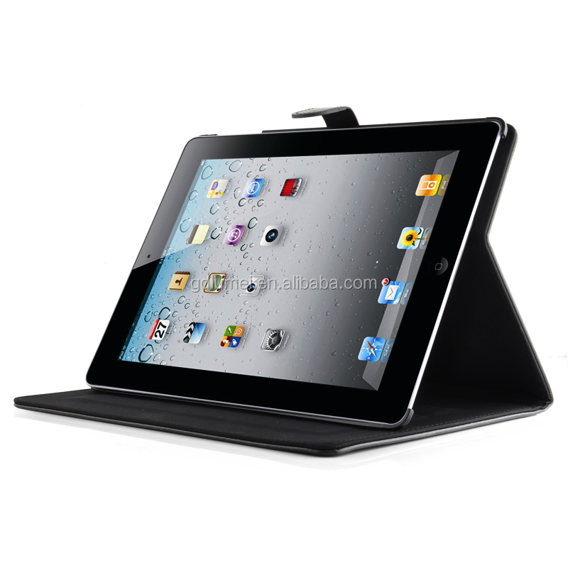 Hot Selling Stand Type Flip Multi Functional PU Leather Wallet Case for Apple ipad 4