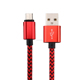 Nylon Braided Micro USB Cable Mobile Phone Security Cable USB Data Cable for Android