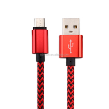 Nylon Braided Micro USB Cable mobile phone security cable usb data cable for Andorid
