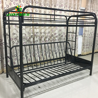 Hot selling converted into bunk beds commercial bunk beds college iron wrought bunk bed