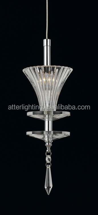 single iron amd clear crystal pendant light in guzhen