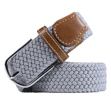 Grey Sports Belts Polyester Nylon Fabric Braided Belts