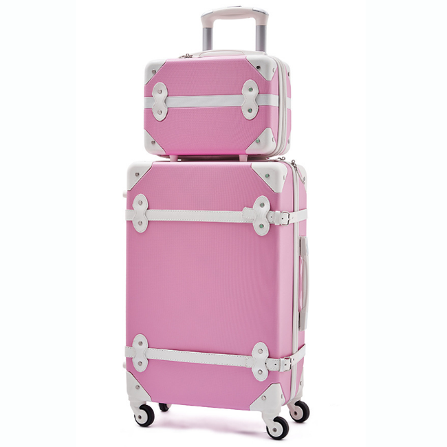 abs trolley case spinner hard vintage luggage travel trend luggage