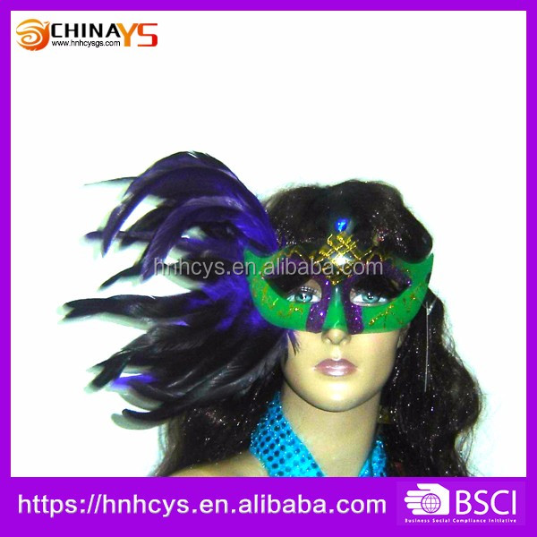 OEM 2017 newest design carnival feather masquerade masks on sale