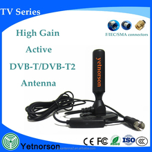 Manufacturer high gain TV Magnetic Active Antenna 470-862mhz SMA connector car tv antenna installation
