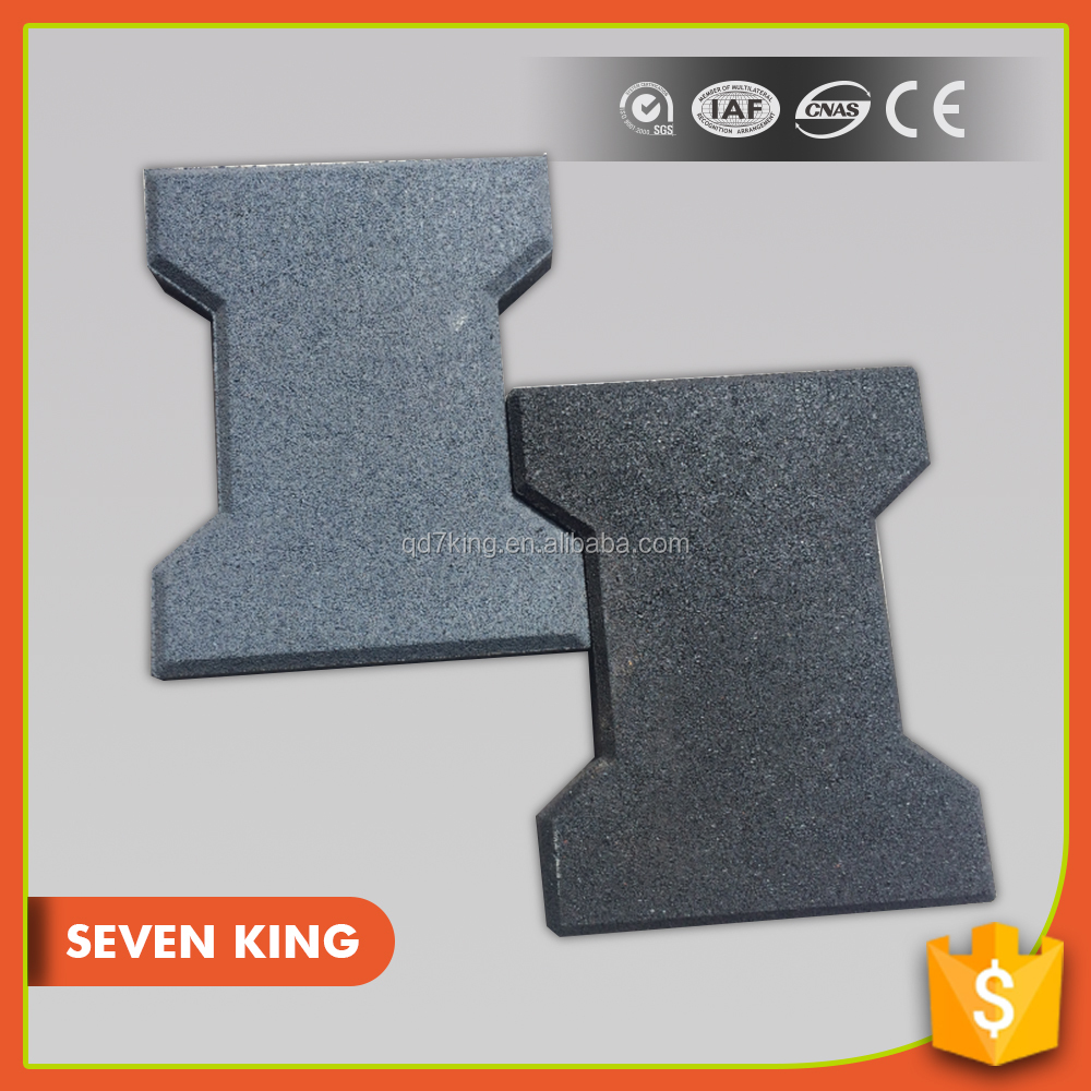 Soundproof outdoor driveway rubber tile paver mats