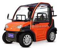Mini electric car elactric automobile orange