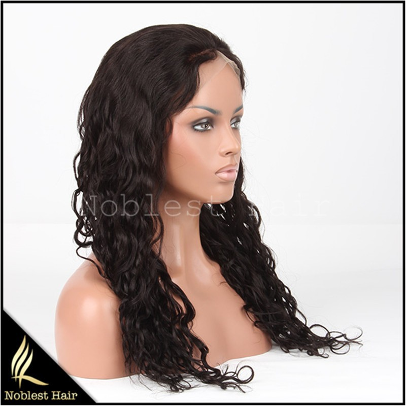"Small cap cheap curly indian remy hair full lace wigs 22"" 1b# natural curl lace wigs"