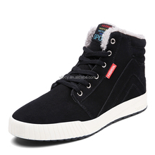 Mens Warm Suede Leather Snow Boot Fur Lined Lace Up Ankle Sneakers High Top Shoes