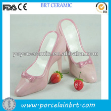delicate hot sale ceramic high heel shoe piggy bank