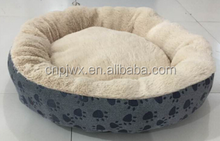 Hot sale embossed velvet round bed for dog and cat pets product