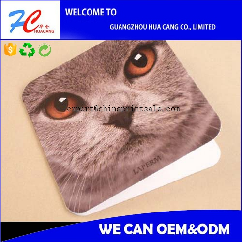 cute square cardboard greeting cards with lower price