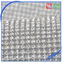 Hotfix Adhesive Rhinestone Sheets,Hot Fix Crystal Rhinestone Mesh Trimming Roll