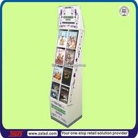 TSD-C221 Custom retail shop cardboard dvd cd display rack/pos counter display stand/cardboard movie displays