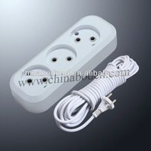 3 gang multiple socket outlet with 3m 5m cabke high quality hot sale