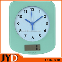 JYD EKS33 2015 New Precision Digital Kitchen Scales with Analog Quartz Clock For Promotion Gift