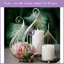 KB124 wedding floor stand gold lantern candle holder for table decoration