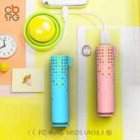 Lipstick 2600mAh USB Power Bar Banque Chargeur de batterie for iPhone Mobile