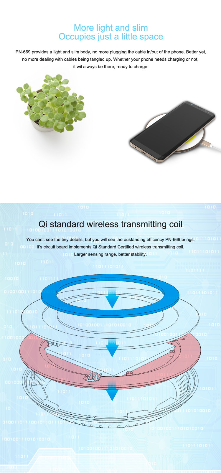 2019 new product wireless mobile phone qi wireless charger
