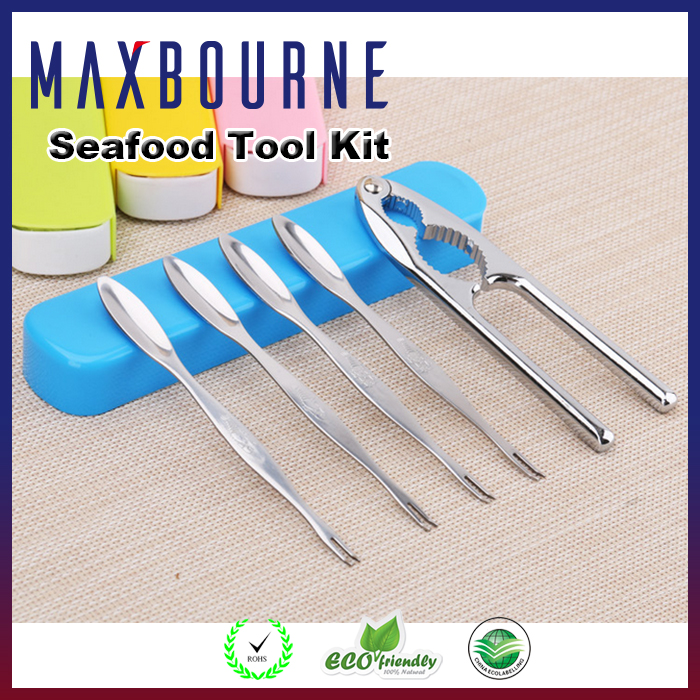 5 pieces Seafood Tool Kit Set with Crab Crackers Seafood Tool Set