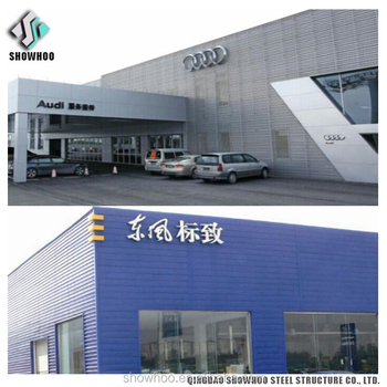 Large Span Prefabricated Steel Structure Hall Building Function Hall