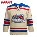 new design custom made lace up hockey jersey