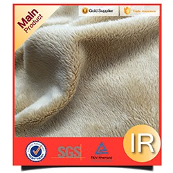 knitted printed coral fleece fabric for blankets
