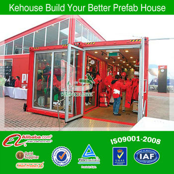 ISO certificated 20 ft container house for labor living /office