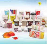 company logo printed disposable paper coffee cups