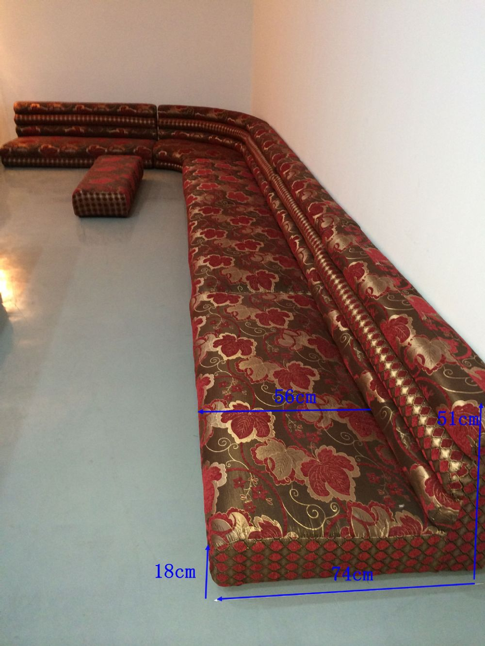 Fabric moroccan indian floor sofa for sale fabric l shape for Fabric material for sale
