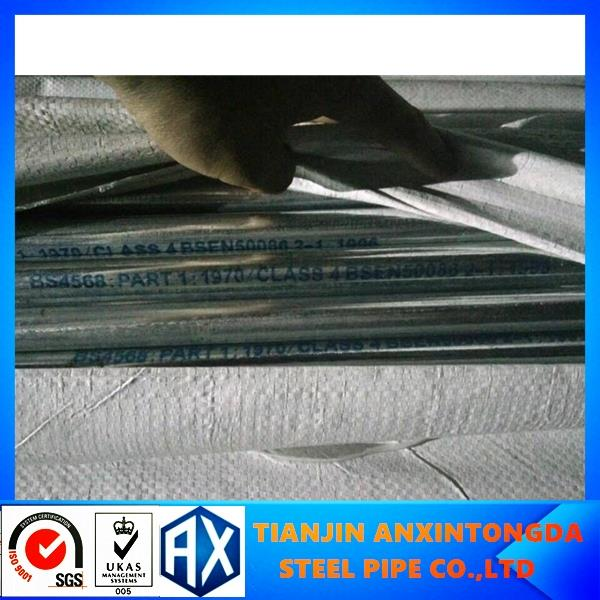 Hot dipped galvanized rigid bs31 acid resistant electro galvanized steel tube