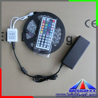 5M ip65 5050 RGB 300 Led SMD Flexible Light Strip Lamp+44 key IR+12V 5A Power Supply led super bright RGB KIT