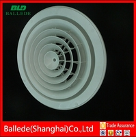 HVAC system air ventilation pvc round ceiling vent from shanghai
