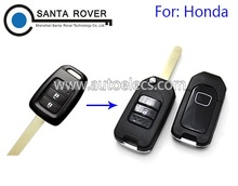 High Quality 2 Button Modified Flip Key Shell For Honda Accord Remote Car Key