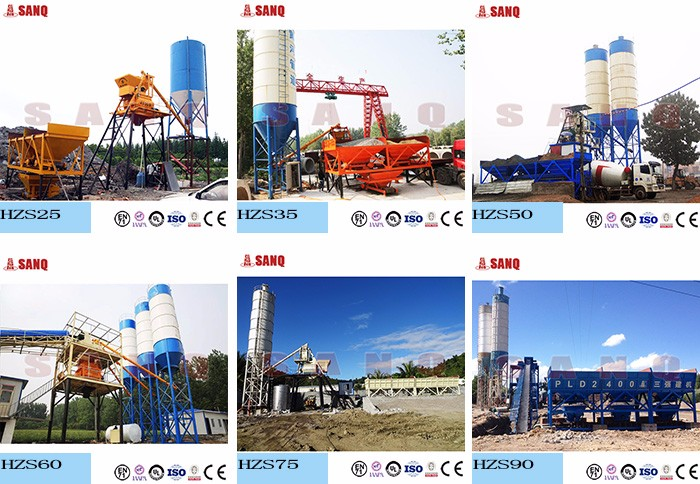 HZS90 90m3/h Best Price Belt Conveyor Type Automatic Control Ready Mixed Concrete Batching Plant for Sale