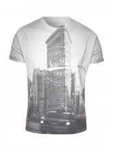 Black city design Sublimated Cotton T Shirt , available customization WISE IMPEX