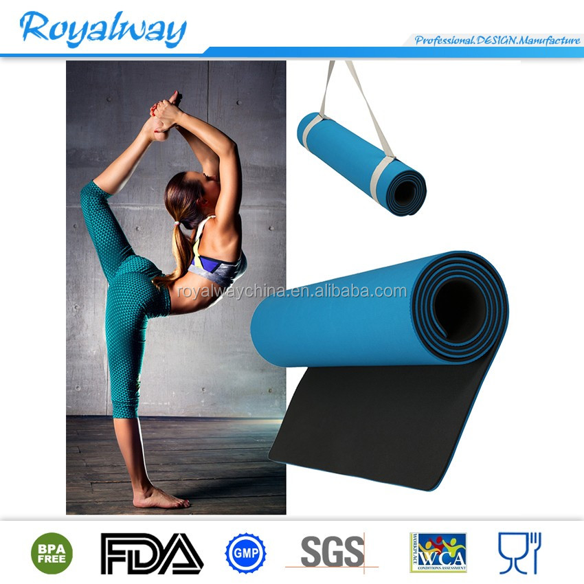 Body alignment system SGS certified TPE material folding textured non slip surface and optimal cushioning yoga mat